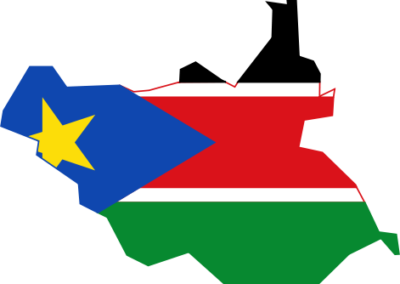 South Sudan flag map